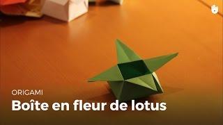 Origami : Boîte en forme de fleur de lotus - HD