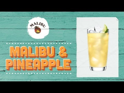 How to Mix a MALIBU & Pineapple