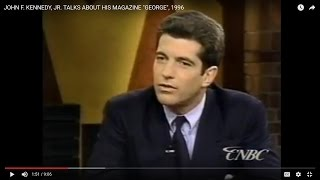 "JOHN F. KENNEDY, JR. TALKS ABOUT HIS MAGAZINE ""GEORGE"", 1996 (88)"