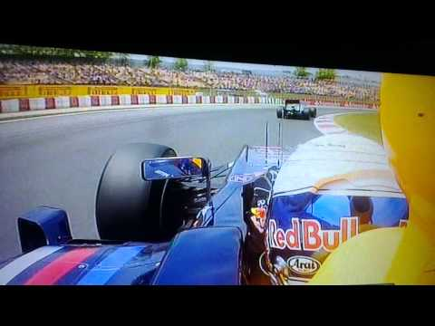 Vettel team radio in Spain about Drive Through - 2012 -HD