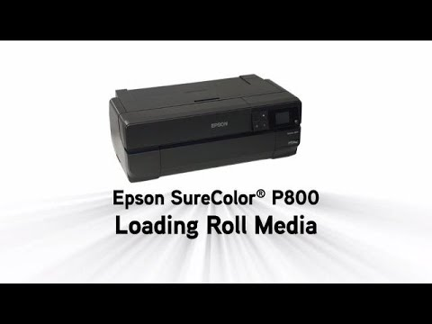 Epson SureColor P800 | Loading Roll Paper