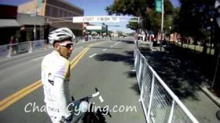 Cycling Crash 2010 Dade City Crit and Cyclist Escapes Through Sidewalk