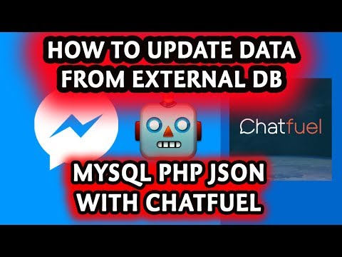 How to update user data through chatfuel connecting with Mysql PHP JSON