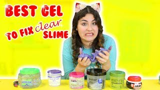 BEST HAIR GEL TO FIX CLEAR SLIME | how to fix hard clear slime | Slimeatory #190