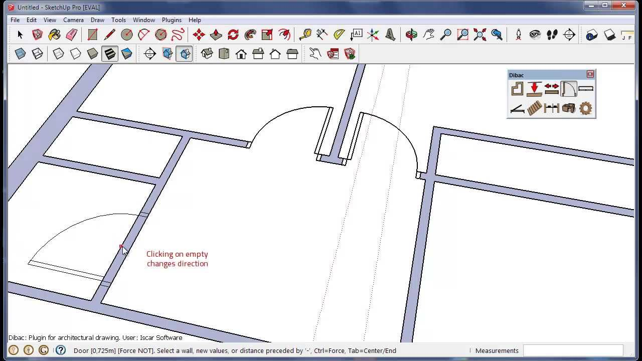 Dibac For Sketchup Architectural Plugin Youtube