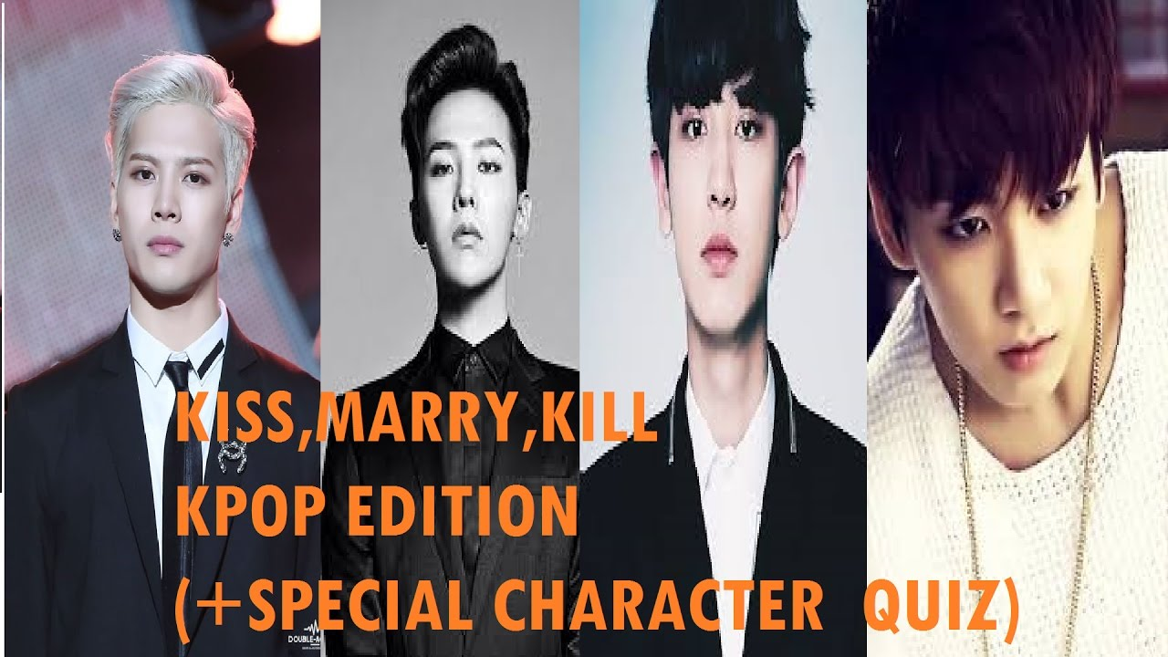 kiss marry kill kpop boys edition  special character quiz