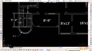 Work On Building Plan 2 In Autocad Urdu Tutorials Www.xpacademy.com