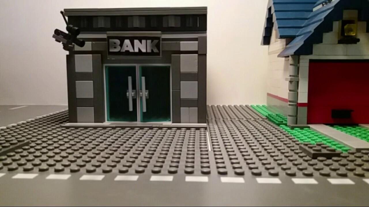 Lego Batman Bank Robbery - YouTube
