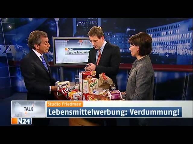 Studio Friedman: Essen macht uns Fett und Krank (Sendung vom 10.01.2013)