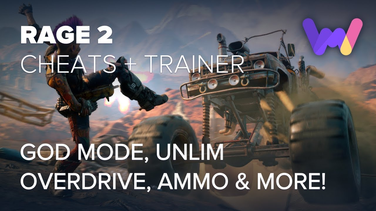 Rage 2 Trainer + 9 Cheats (God Mode, Unlim Overdrive, Ammo, & More!)