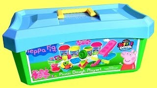 Peppa Pig Picnic Dough Playset Softee Dough Carry Case with Fun Factory Play-Doh NEW 2016