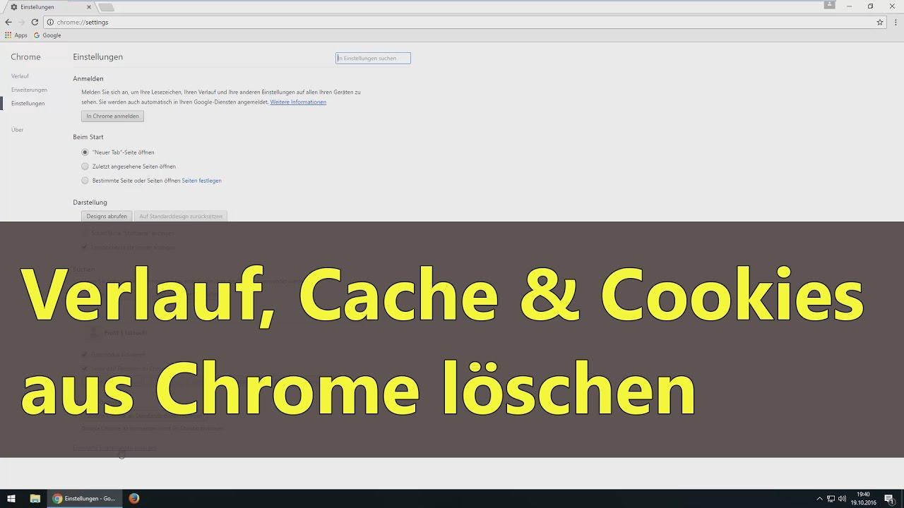 Cache Und Cookies Löschen Chrome