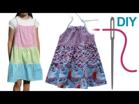 DIY Kleid nähen für Anfänger – Stufenkleid – Zierstoff Schnittmuster ...