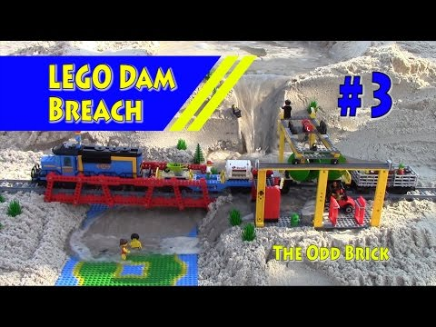 LEGO Train Flooded in Dam Breach