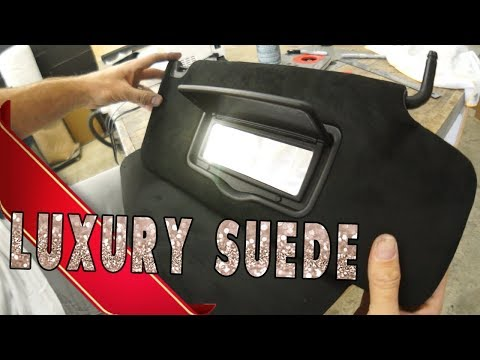 Perfect sun visor conversion, BLACK ULTRA SUEDE! - AMPLIFIED #692
