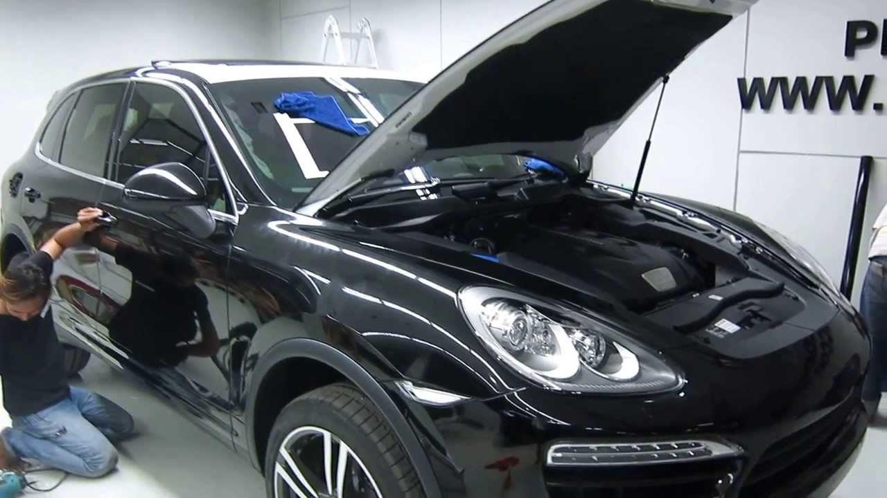 Glossy Black Premium Porsche Cayenne Wrap Car By Tony Wrap