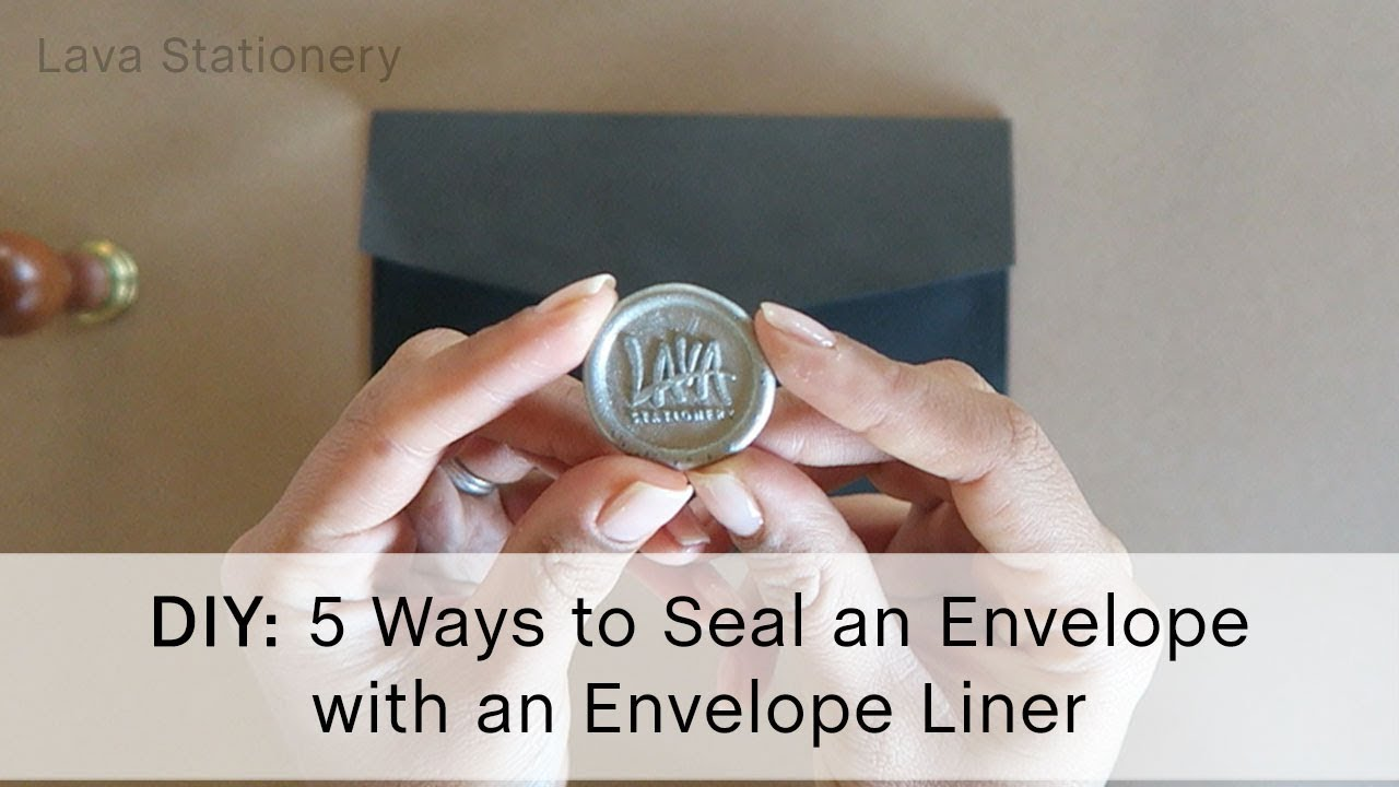 HOW TO seal an envelope with an envelope liner (5 different ways)
