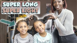 5-YEAR OLD TWINS GET HAIR EXTENSIONS. FIRST TIME!