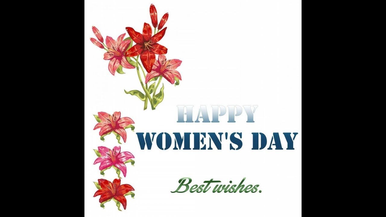 Happy Womenu0027s Day | International Womenu0027s Day Animated Wishes Greetings, E  Card Whatsapp Video   YouTube