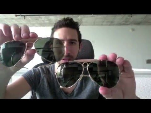 e1d89dd5c01 Ray Ban Shooters RB3138 vs Ray-Ban Outdoorsman RB3030 - YouTube