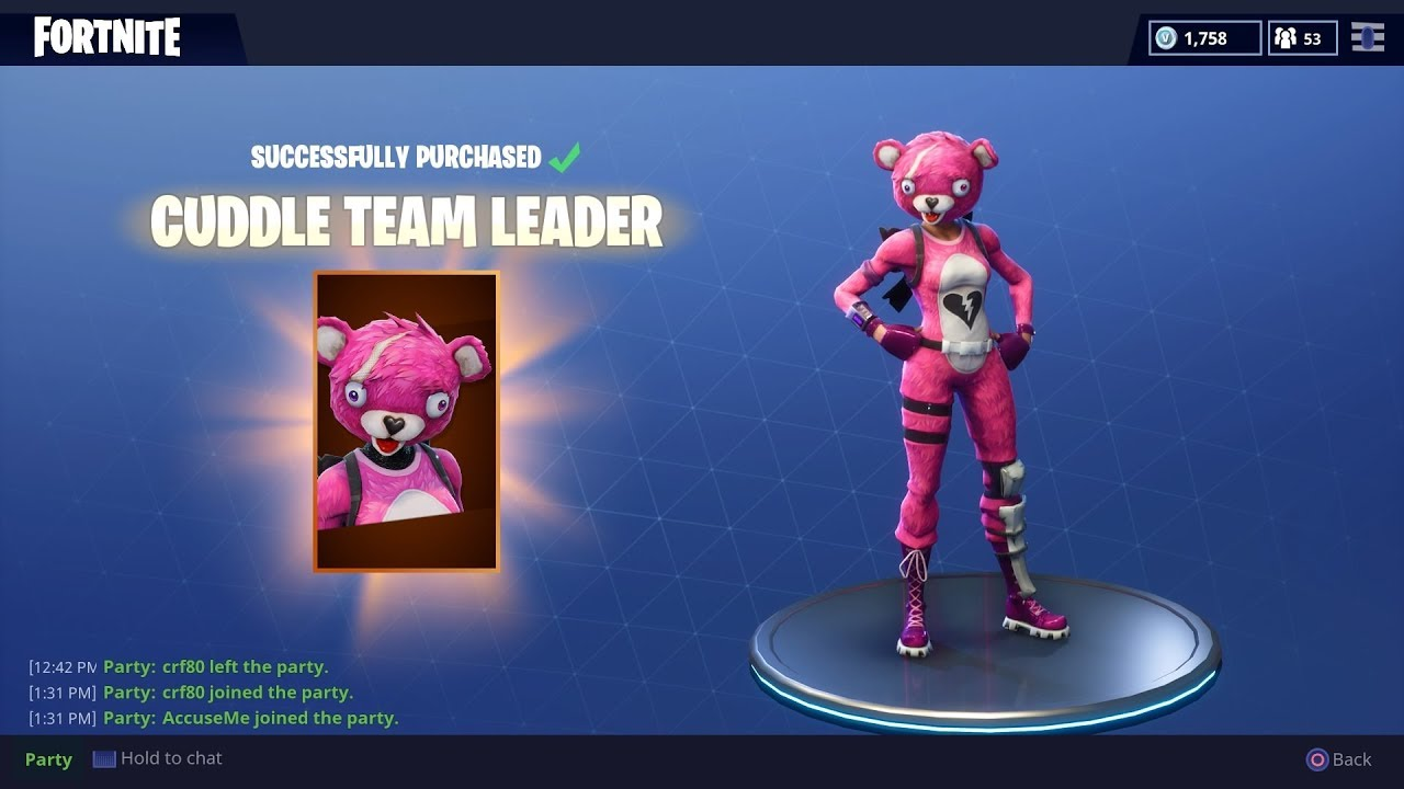 New cuddle team leader outfit gameplay fortnite battle royale youtube - Cuddle team leader from fortnite ...