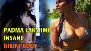HOT ! Padma Lakshmi Relaxes In Bikini While In Goa !