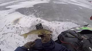 Ice Fishing Poygan walleye 1-18-19