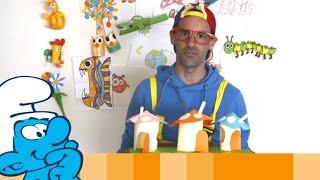 Smurfy crafts with Animatie Musketiers • Смурфики