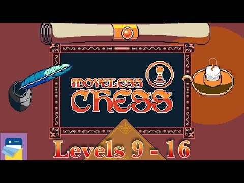Moveless Chess: Levels 9 10 11 12 13 14 15 16 Walkthrough & iOS iPad Air 2 Gameplay (by Beavl)
