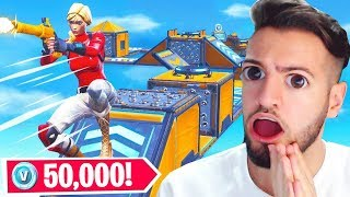 WIN 50,000 VBUCKS in this DEATHRUN in Fortnite !