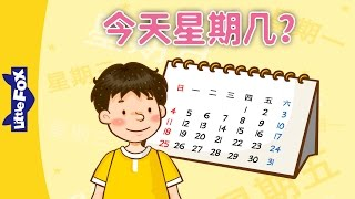 What Day Is It Today? (今天星期几?) | Learning Songs 1 | Chinese song | By Little Fox