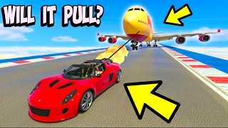 CAN A CAR PULL THE LARGEST AIRPLANE IN GTA 5?
