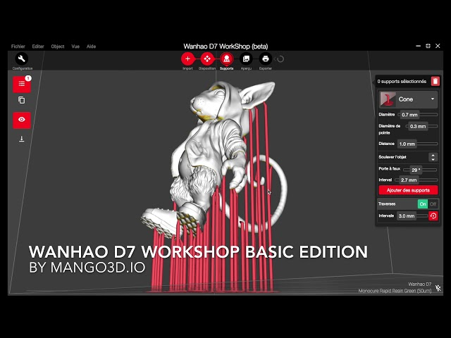 WANHAO D7 WORKSHOP SUPPORTS SLA LCD