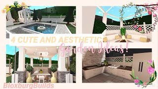 4 Cute And Aesthetic Garden Ideas Bloxburg Youtube