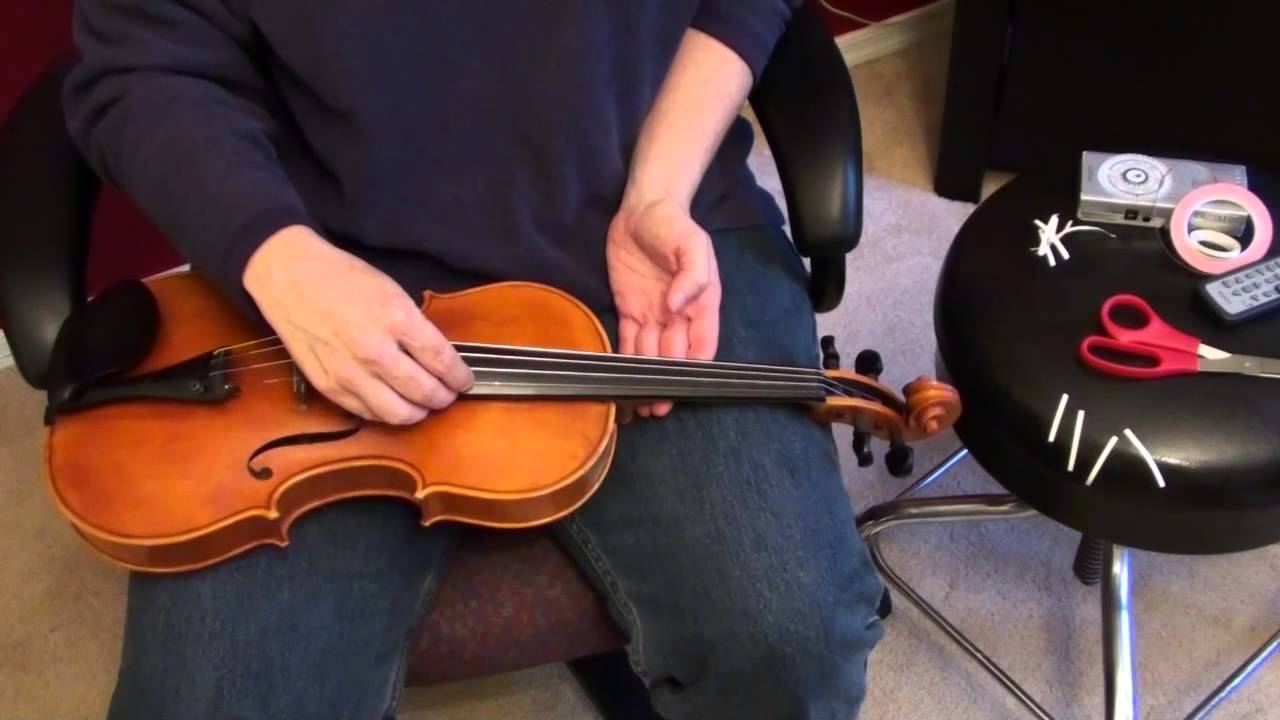 How to Apply Finger Tapes to a Violin
