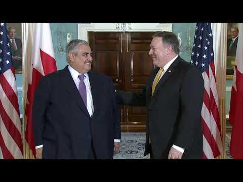 Secretary Pompeo Meets with Bahraini Foreign Minister Al Khalifa