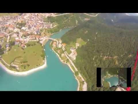 Nose down spiral above the Molveno lake