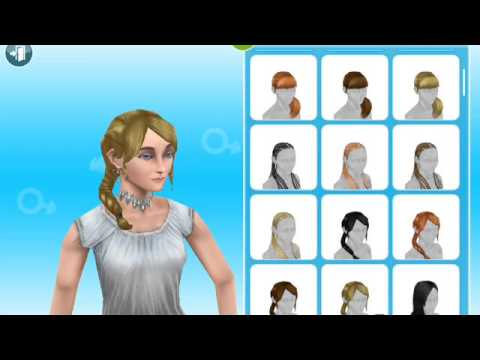 Sims freeplay new hairstyles - YouTube