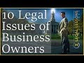 "Facing legal issues in business? What are the top 10 legal issues in business? Over the years, I have identified the Top 10 legal issues in business, that owners should consider.   Business Plans. Business plans are not a legal requirement. However, business organizations should clearly define their business' objectives in a concise, dynamic business plan to communicate the mission and business goals to key players in the business.  Legal Structure. Probably the most important decision for a business owner is deciding the appropriate legal structure. The choice will impact the owners choice of entity, management, liability, taxation, financing, and some other key issues. Business owners should consider consulting with a lawyer before making this decision.  Financing the Business. Depending on the type of business entity an owner selects and its financial goals, financing can be done in several ways. Typically, the business owner will decide to finance the business with debt and/or equity. Such ways include obtaining loans from a bank or another lender, issuing short-term or long-term debt securities, and issuing equity securities. Because of the legal complexities and risks associated with issuing securities, consulting with a lawyer is imperative.  Selecting a Business Name. A new business name should be legally cleared before its first use. This means a business owner should complete some research to make sure there are no similar names. Once cleared for use, a business name should be protected by filing it with the relevant secretary of state office, registering as an Internet domain name, filing an application for federal or state trademark registration, and filing applications for foreign trademark and service mark registrations in key international markets, if the business is planning on operating outside of the US.  Choosing a Business Location. Factors to consider when choosing a business location include the business's proximity to customers, suppliers and distributors. Consider its minimum business requirements, like office space size, access to public transportation, and parking.   Recruiting and Hiring Employees. Recruiting and hiring employees creates new legal obligations for the business to consider. Some of these considerations include: complying with federal, state, and local anti-discrimination laws in the hiring, interviewing, and selection process; satisfying I-9 requirements; maintaining the ""at-will"" status of employees, unless an employment agreement states otherwise; complying with wage/hour laws; employee benefits; drafting and maintaining employee policies or an employee handbook.  Obtaining Business Licenses and Permits. The nature and location of the business will determine whether licensing and permits are necessary. Check the state and local laws and regulations. Also check Federal law for businesses that are federally regulated. The new business will also need to apply for an employer identification number (EIN) with the IRS.  Identify Suppliers, Distributors, Logistics Providers, and Customers Depending on the type of a business and the kinds of goods and services it provides, an owner will need to identify and contract with: Suppliers; Distributors; Logistic Providers; and Customers. Don't rely on handshake deals. The best practice is to maintain written agreements with all these individuals.  Acquiring and Protecting Intellectual Property. Many new businesses create intellectual property (IP) to be used in connection with the manufacture, marketing, advertising, and sale of their goods and services. These IP assets include: Trademarks; Copyrights; Trade secrets; and Patents. Before the business considers exploiting these IP assets, they should be cleared for use, ensuring protection remains available, and then protected. Remember, when sharing any proprietary information, parties should enter into a nondisclosure agreement.  Evaluating Insurance Needs All new businesses need insurance. Factors owners should consider when deciding what insurance to buy, and how much is necessary, include the scope of: exposure to suppliers and customers; activities of employees and independent contractors; corporate activity, including inherently dangerous activities. At a minimum, a business owner should consider obtaining commercial general liability, including property damage, personal injury, and advertising injury; workers' compensation and employer liability; Key man or key person; Insurance for ERISA fiduciaries, including ERISA bonds; fiduciary liability insurance; errors and omissions insurance; and directors and officers liability insurance."