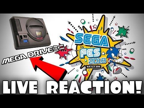 🔴[LIVE] SEGA FES 2018 [LIVE REACTION] BIG SEGA REVEAL from JAPAN!