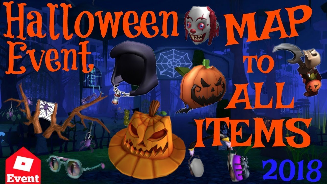 All Roblox Halloween Event Items How To Get Prize Items Roblox Halloween Event 2018 Youtube