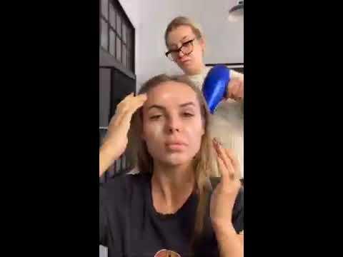 Подробный макияж со съёмок от Ханны
