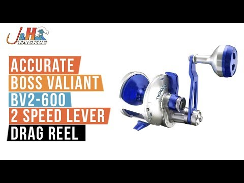 Accurate Boss Valiant BV2-600 2 Speed Lever Drag Reel | J&H Tackle