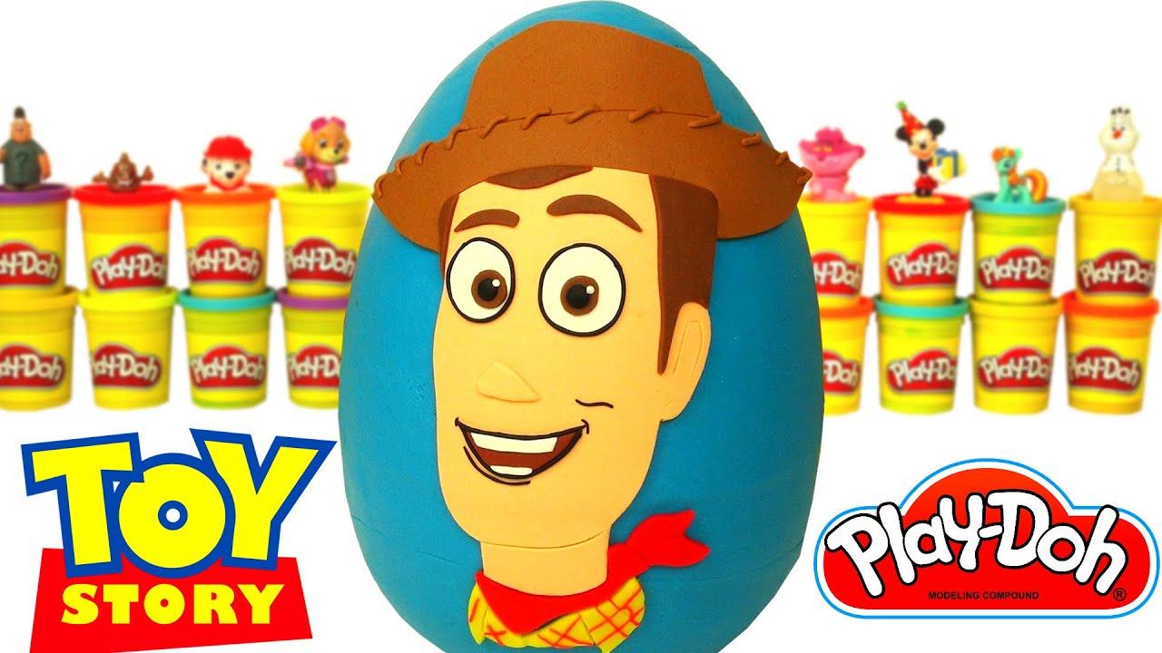 Huevo Sorpresa Gigante de Woody de Toy Story en Español de ...