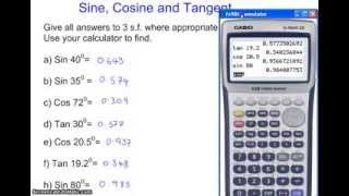 Using the the Sin, Cos and Tan FUNCTIN button the scientific calculator(, 2014-01-26T13:47:08.000Z)
