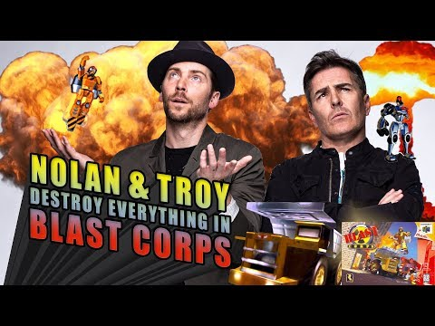 Nolan North and Troy Baker Destroy Everything in Blast Corps