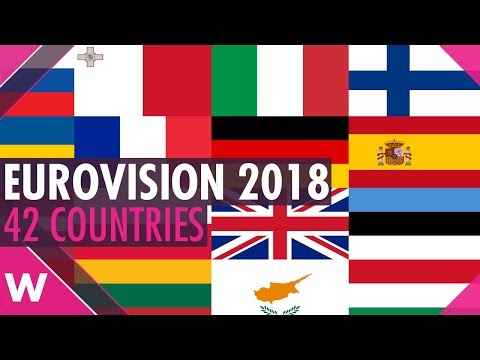 Eurovision 2018: 42 participating countries