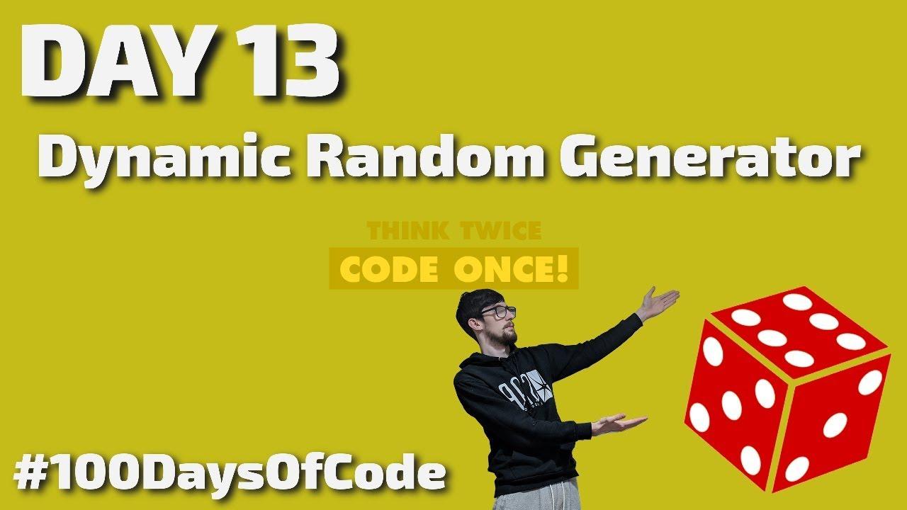 How to Create a Dynamic Random Generator in Javascript
