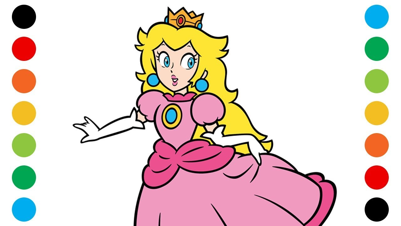 Printable Princess Peach Coloring Pages For Kids | 720x1280