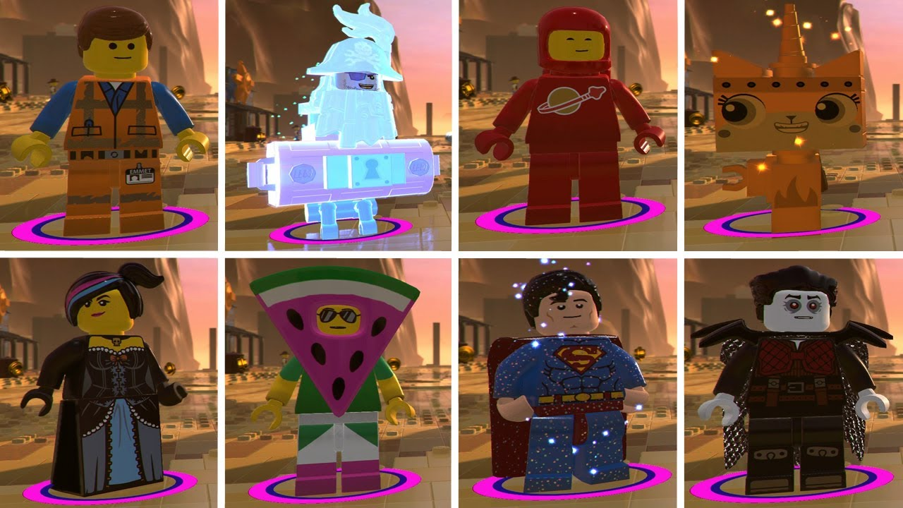 The Lego Movie 2 Videogame All Characters Youtube
